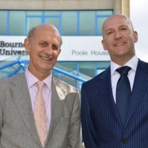 Roger with Dr Simon Thompson at Bournemouth University